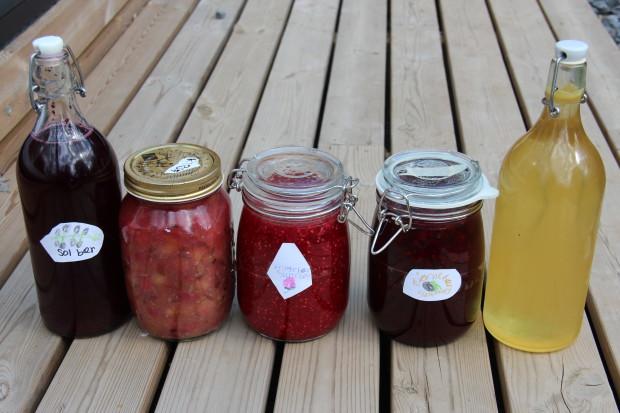 Bær og frukt, spising, sylting og safting