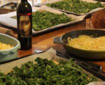 grønkålpizza til lunsj