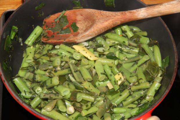Aspargesbønner med estragon og sitron