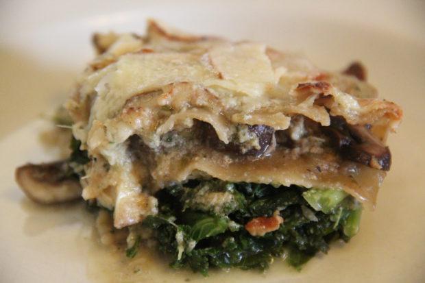 Grønnkål og aromasopp lasagne – oppskrift